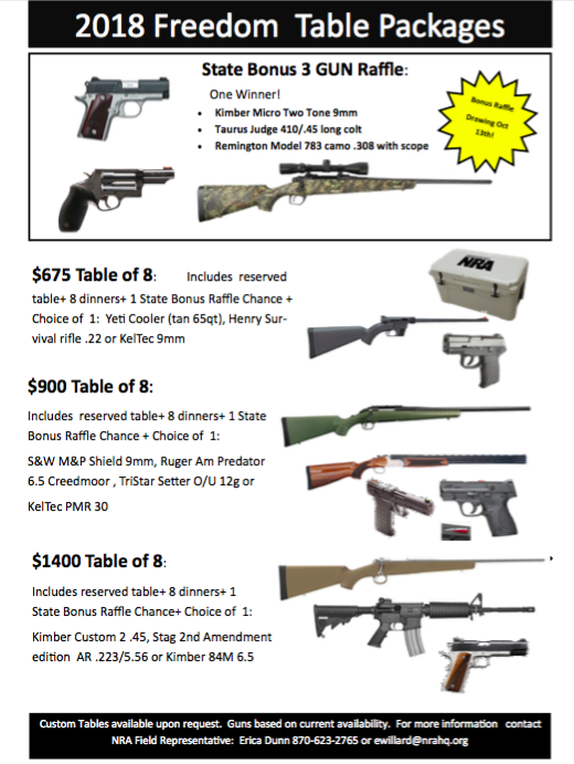 A chance to meet the NRA and win an assault rifle in