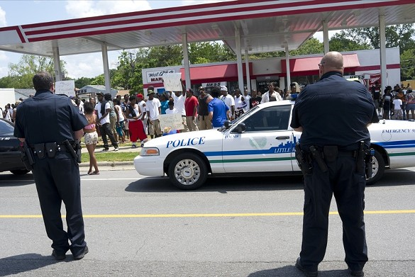 Fatal police shooting followed by angry protests as crowd