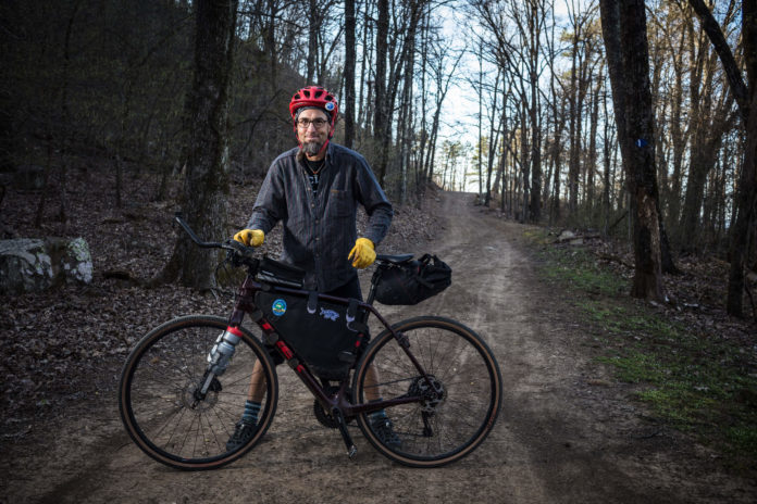 chuck campbell with his mountain bike