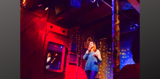 comedian Stef Bright at the White Water Tavern