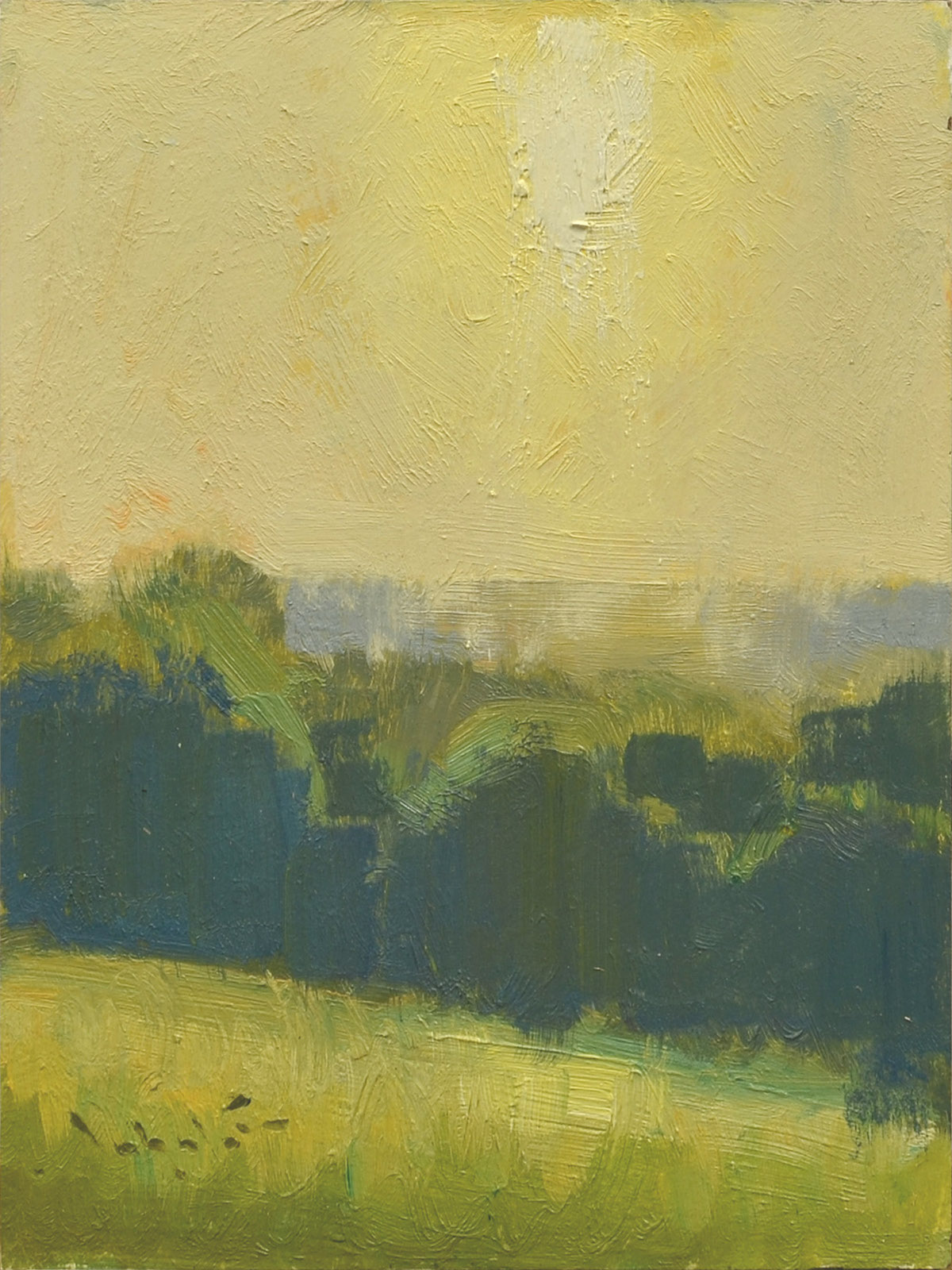 abstract landscape in yellow