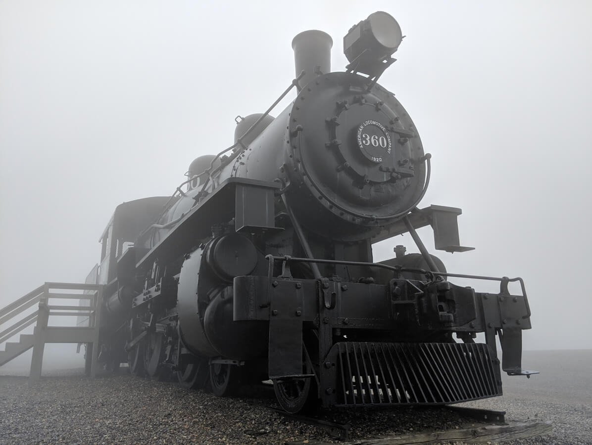 photo of Train at Queen Wilhelmina Lodge in the fog