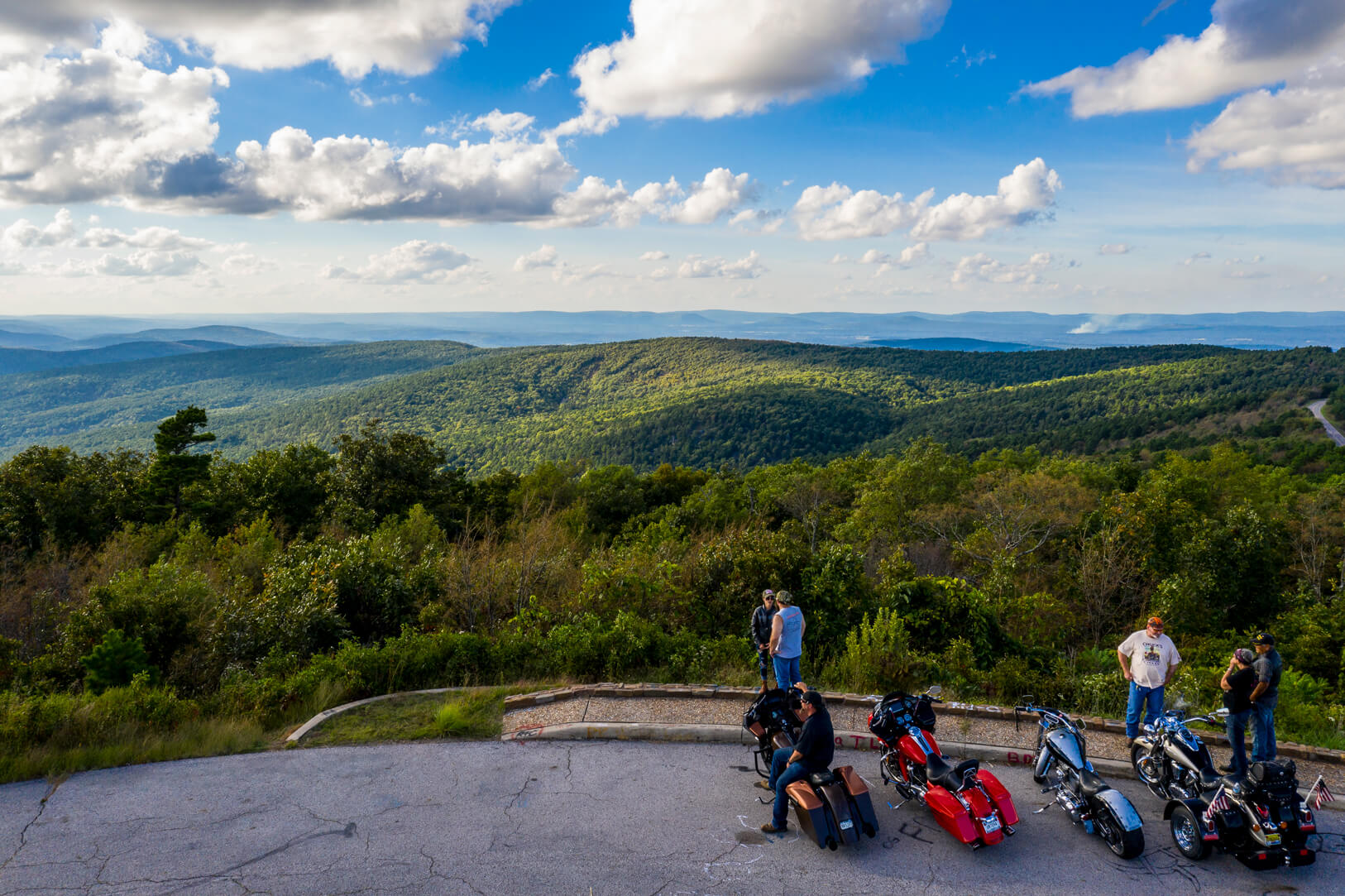 image of Talimena Scenic Byway vista