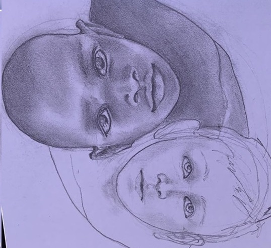 drawing of faces