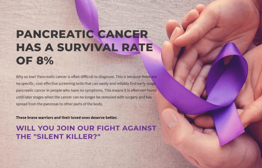Pancreatic cancer has a survival rate of 8%