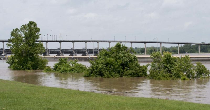 image of Flooding in Little Rock's Murray Park on May 29.