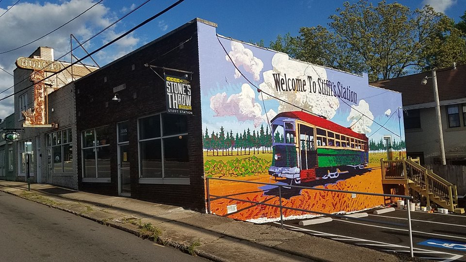 a vibrant mural in Stifft Station neighborhood of Little Rock