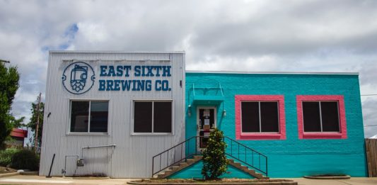 Exterior of East Sixth Brewery.