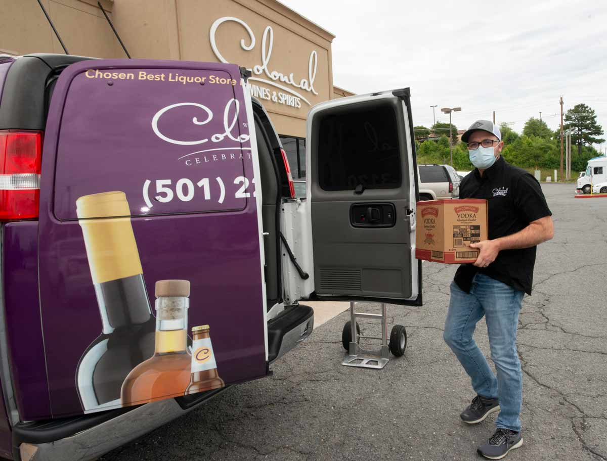 Colonial Wines & Spirits' ample inventory is now available for curbside or delivery