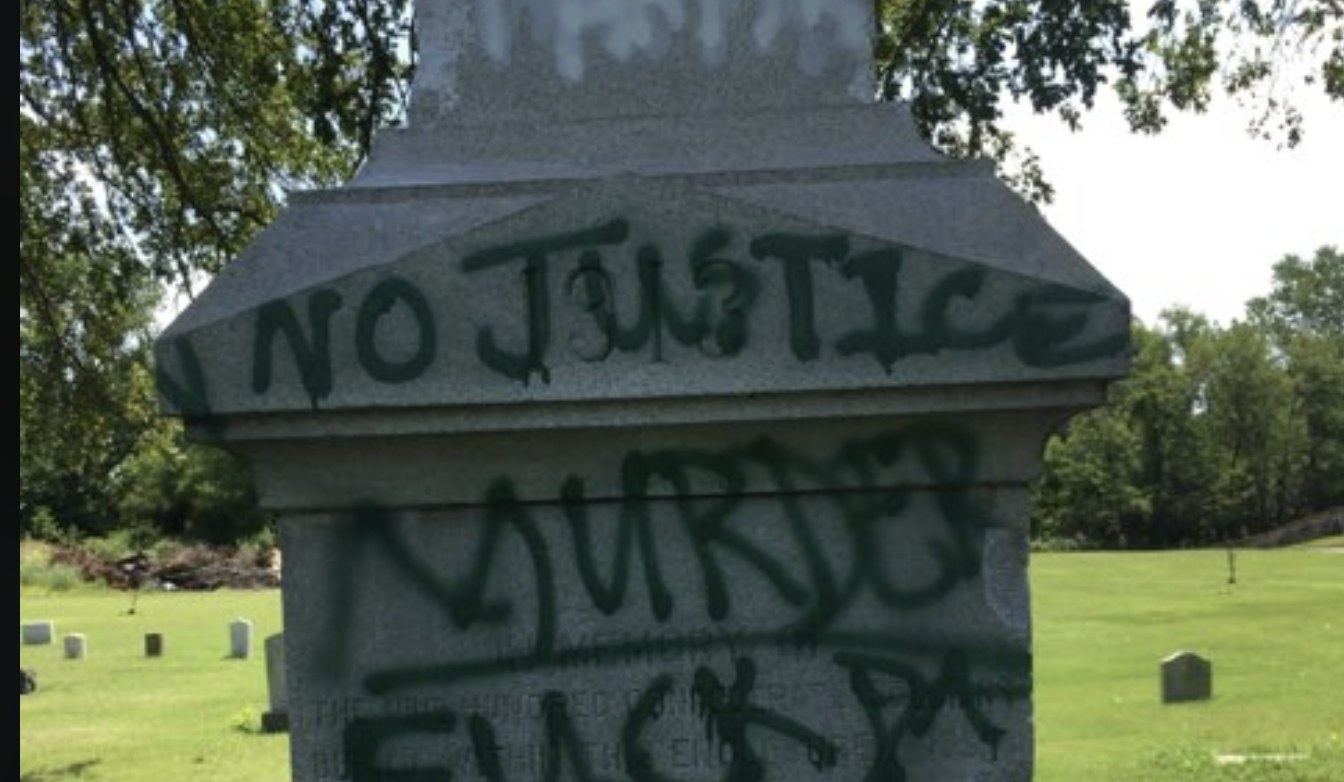 Vandalism reported in Confederate cemetery in Little Rock, photos show apparent suspects