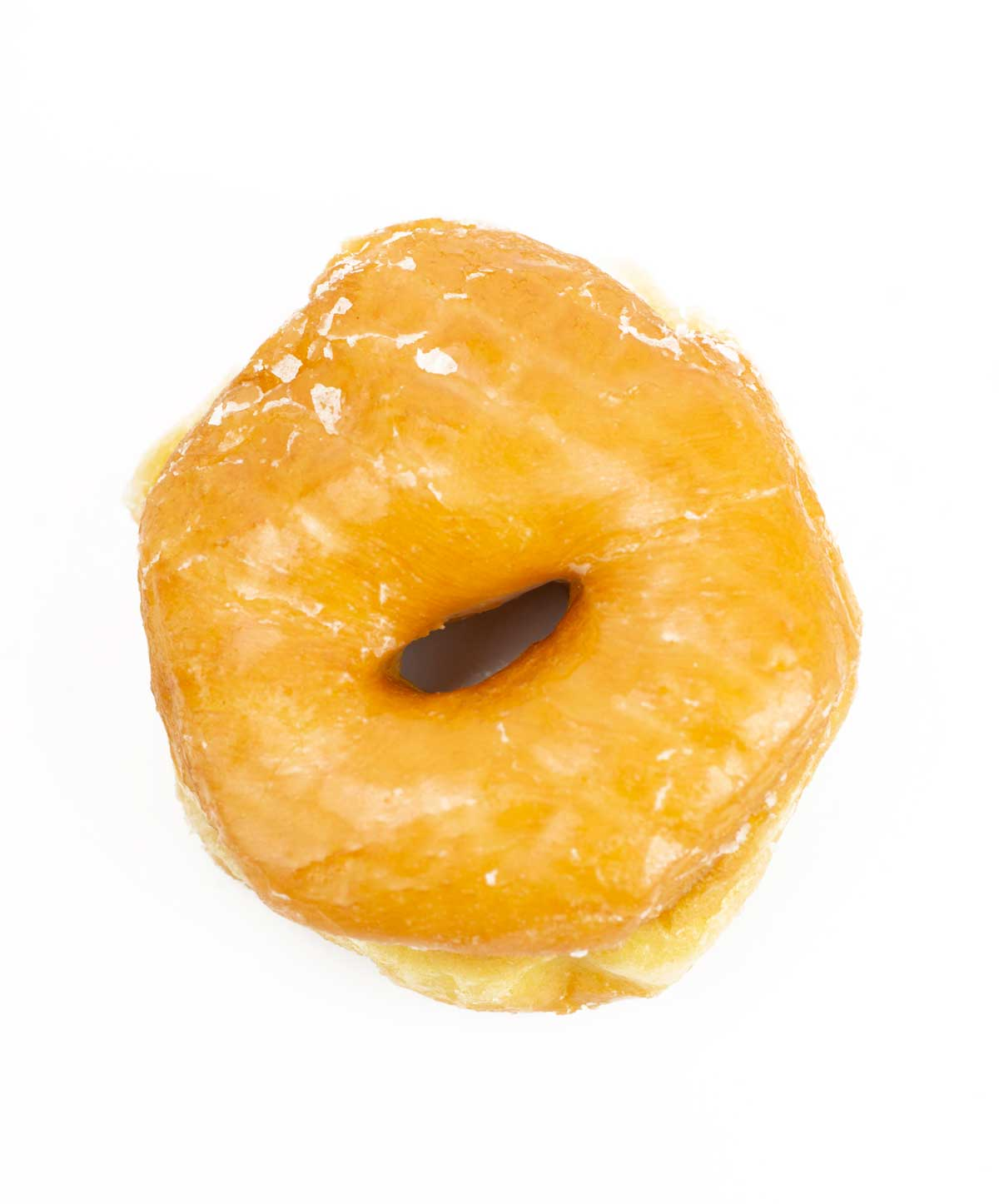 picture of glazed donut from Mark's Do-Nut Shop in North Little Rock