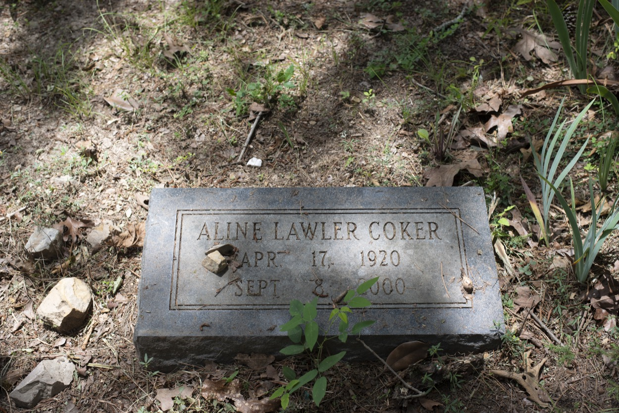 picture of The grave of Ruth Coker Burks' mother at Files Cemetery in Hot Springs