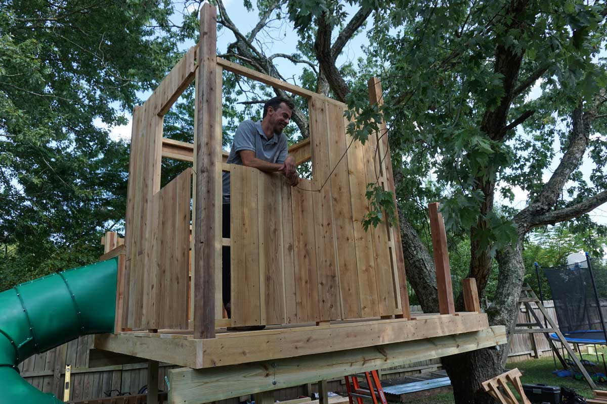 picture of Natural State Treehouses Josh Hart in a treehouse